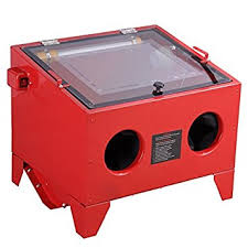 blast cabinet screen protector bench sandblaster bead sand grit blasting blaster blast sandblasting