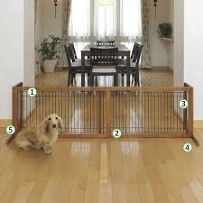 amazon com richell wood freestanding pet gate large autumn