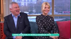 lucy and anna decinque before eamonn tells holly willoughby her bums u0027too big u0027 for a formula one