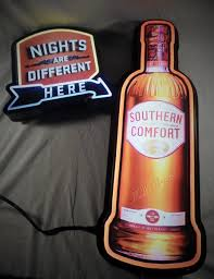 Southern Comfort Bottle Southern Comfort Neon Bottle Shaped Sign Arden Scott Records