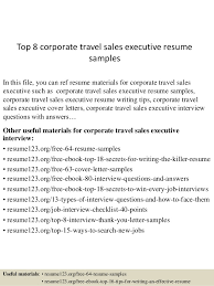 Executive Resume Sample by Top 8 Corporate Travel Sales Executive Resume Samples 1 638 Jpg Cb U003d1431832971