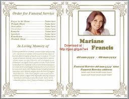 Samples Of Funeral Programs Free Funeral Program Template Affordablecarecat