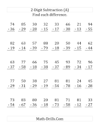 Regrouping Worksheets The Adding And Subtracting Two Digit Numbers A Math Worksheet
