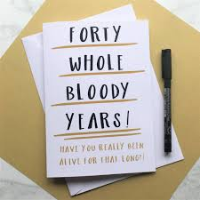 funny 40th birthday card museum greeting cards