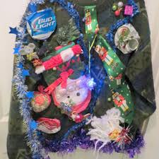 ugly christmas sweaters that light up and sing drunken hilarity fun ugly christmas sweater with beer cans