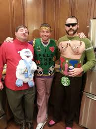 my friend just plain gets how to do ugly sweater parties funny