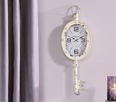 vintage inspired white skeleton key wall clock shabby chic