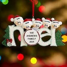 personalized family ornaments penguins 10775