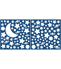 home decor moon and stars wall decal 120 piece set joann