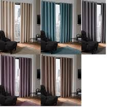 Aubergine Curtains Logan Eco Thermal Blackout Eyelet Curtains 65inch Width X 90inch