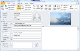 quick tip create an electronic business card from a microsoft