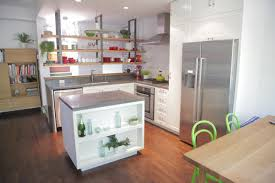 kitchen island with open shelves practical kitchen island designs with open shelving