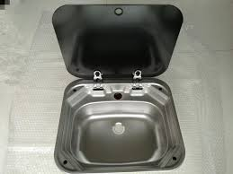 caravan sink with lid rv caravan cer stainless steel hand wash basin kitchen sink with