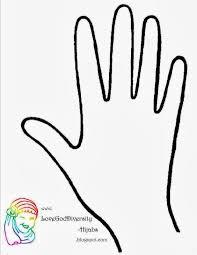printable handprint template virtren com