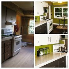 Painting Old Kitchen Cabinets White by Painting Wood Kitchen Cabinets White Before And After Floor