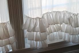 Cream Ruffle Curtains Linen The Corner Farmhouse