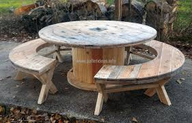 Recycled Pallet Cable Reel Patio Furniture Pallet Ideas - Recycled outdoor furniture