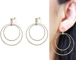 clip on earrings that don t hurt pierced look and comfortable invisible clip on by miyabigrace