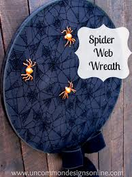 make a halloween wreath how to make a spider web halloween wreath