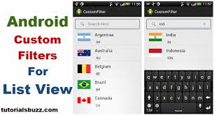 filters for android android filter custom listview baseadapter tutorialsbuzz