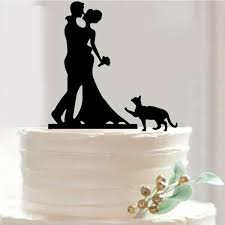 wedding cake topper with dog wedding cake topper groom hold pet dog bouquet
