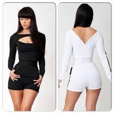 white romper jumpsuit 31 black white sleeve romper jumpsuit from