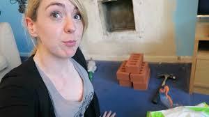 bricking up a fireplace tod vlog youtube