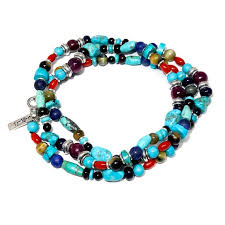 garnet gemstone bracelet images Turquoise coral tiger 39 s eye garnet necklace wrap bracelet jpg&a