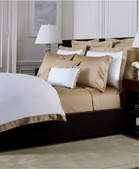 Ralph Lauren Furniture Beds by Ralph Lauren Langdon Border Bedding Collection 624 Thread Count