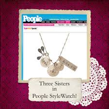 Personalized Hand Stamped Jewelry Three Sisters Hand Stamped Jewelry In People Stylewatch Com