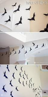 easy diy halloween decor wall of bats u2013 marvelous mommy