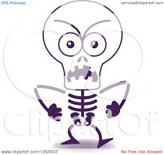 halloween skeleton images clipart of a furious halloween skeleton royalty free vector