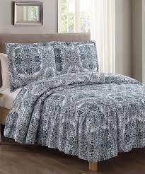 Ivory Quilted Bedspread S L Home Fashions Teal U0026 Ivory Medallion Toscana Bedspread Set