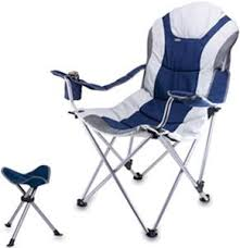 Reclining Folding Chair With Footrest Picnic Time Reclining Camp Chair With Footrest Soccer Equipment