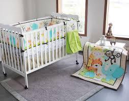Jungle Nursery Bedding Sets New Happy Jungle Animals Friends Baby Bedding Set 6pc Crib Set Bed