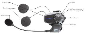 sena smh 10 bluetooth headset motorcycle kit revzilla
