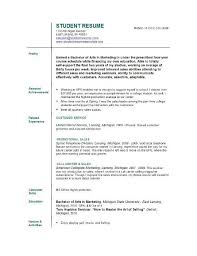 Sample Resume For University Application by Example Of College Resume Sample College Resume College