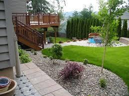 simple backyard landscape design best 25 landscaping along fence