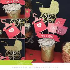coral navy and gold baby shower party ideas photo 3 of 15