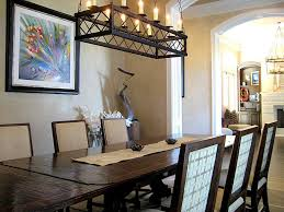Black Chandelier Dining Room Lighting Ideas Rustic Black Rectangle Chandelier Traditional