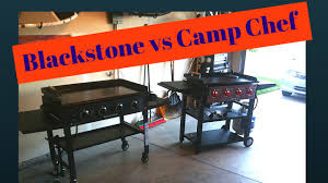 Topgrill Patio Furniture by Blackstone Griddle Vs Camp Chef Flat Top Grill Youtube