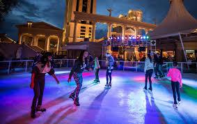 las vegas ice skating and more at caesars shops open at the linq