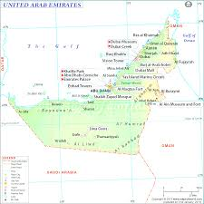 United Arab Emirates Map United Arab Emirates Maps Throughout Map Of Dubai Country