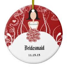 bridesmaid ornaments keepsake ornaments zazzle