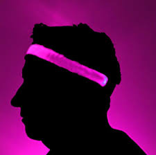 pink headband glowcity bright led light up high visibility headbands glowcity llc