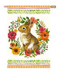 rabbit banner mini woodland rabbit banner flag yankee doodle flag toledo ohio