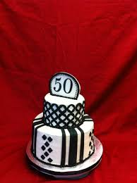 black and white 50th birthday cake cakecentral com