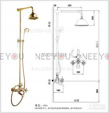 Bathroom Shower Handles 2018 Bathroom Dual Handles Exposed Copper Wall Mount Shower