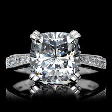 Diamond Cushion Cut Ring Engagement Rings Wonderful Cushion Cut Engagement Rings My