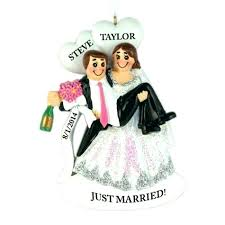 happy hour wedding personalized ornament bulk